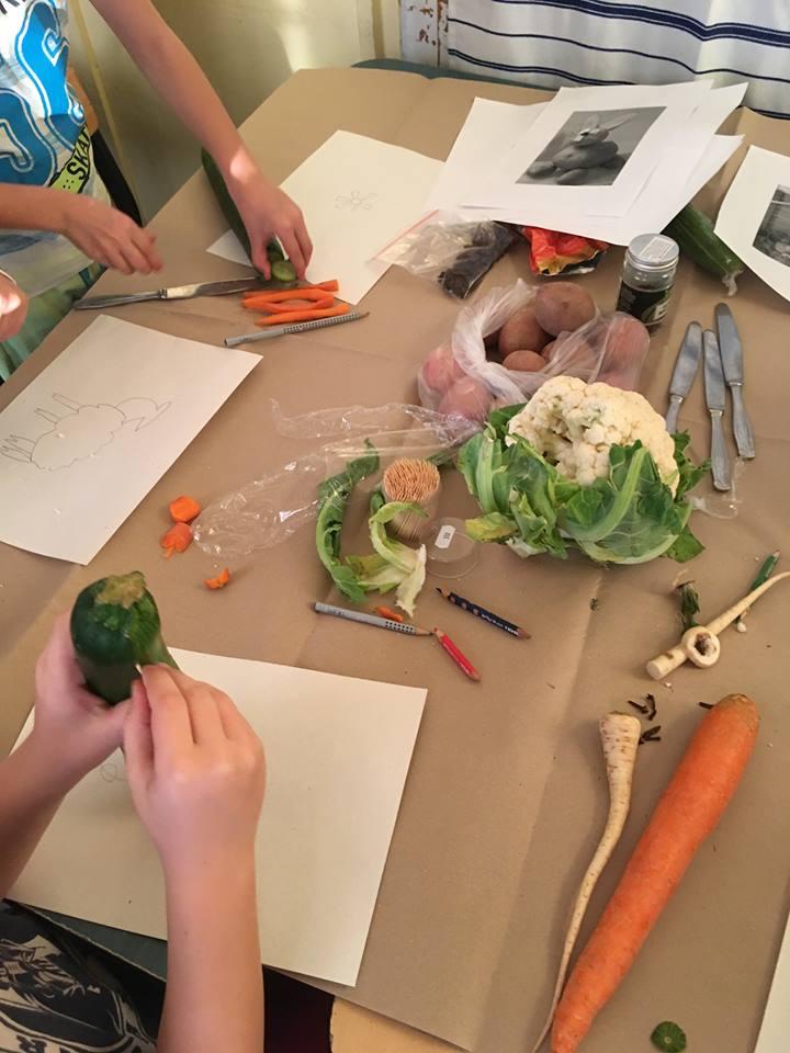 1/b Zöldségszobrok projekt
